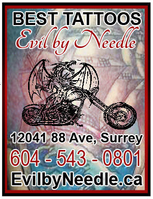 Evil By Needle Tattoo & Piercing has the Best in BC tattoos in the Lower Mainland