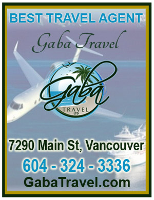 Gaba Travel has the Best Travel to India, Vacations, and Cruises Cruises in BC ~ Best in BC
