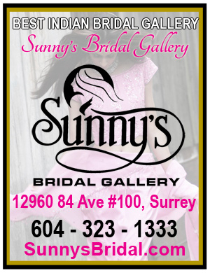 Sunny's Bridal Gallery is the Best Indian Bridal Gallery in Zone 3